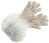 UGG Long Pile Shearling Cuff Glove-long (Light Grey) - Accessories
