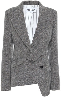 Monse Wool and silk-blend tweed blazer