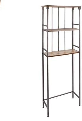 Chapter Kensington 3 Shelf Over the Toilet Bathroom Space Saver, Gunmetal