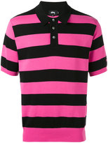 Stussy striped knit polo shirt - men - Cotton - M