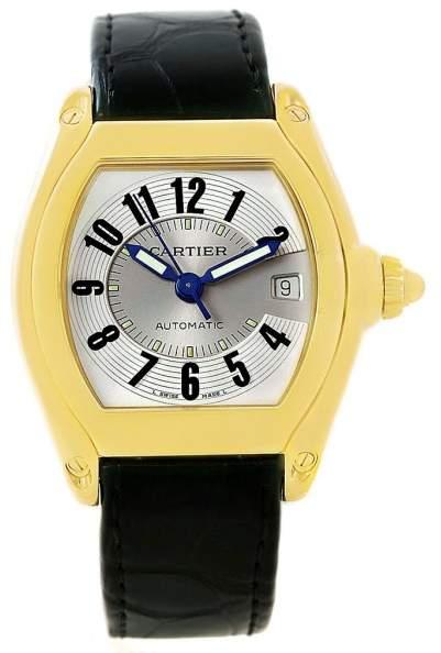Cartier Roadster W62005V2 18K Yellow Gold 37mm Mens Watch