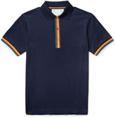 Paul Smith - Slim-fit Contrast-tipped Cotton-piqué Polo Shirt