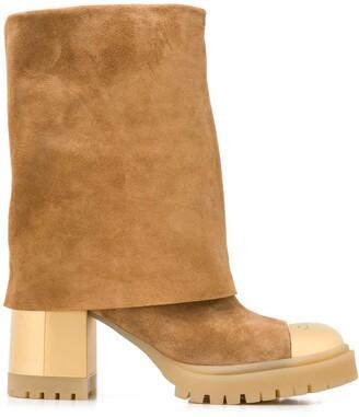 Casadei 85mm Cap Toe Boots