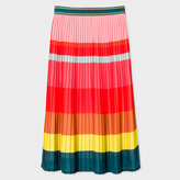 Paul Smith Women's Multi-Colour Pleated Skirt