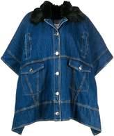 Pinko single-breasted cape coat