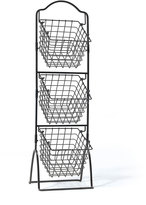 Mikasa Gourmet Basics 3 Tier Metal Market Basket