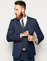 Asos Slim Suit Jacket In Blue
