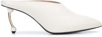 Coliac Embellished Heel Mules