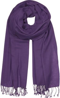 Forzieri Dark Purple Pashmina Shawl