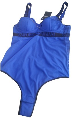 Emporio Armani Blue Lycra Swimwear for Women