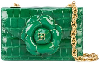 Oscar de la Renta Gardenia flower detail cross body bag