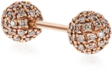 Elise Dray Diamond & pink-gold Piercing Balls earring