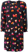 Moschino heart print pleated dress - women - Silk/Polyester - 44