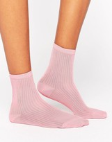 Monki Glitter Ankle Socks
