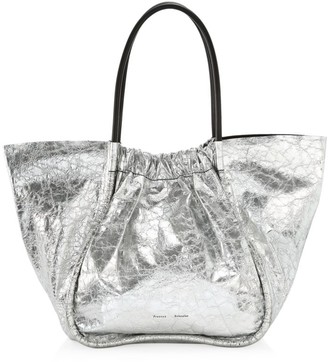 Proenza Schouler Extra-Large Ruched Metallic Leather Tote