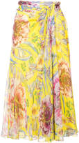 Prabal Gurung floral flared skirt