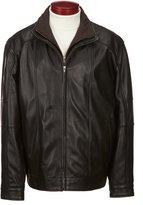 Roundtree & Yorke Lambskin Leather Jacket with Herringbone Bib