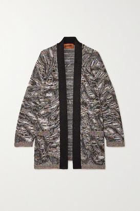Missoni Sequined Metallic Jacquard-knit Cardigan - Silver
