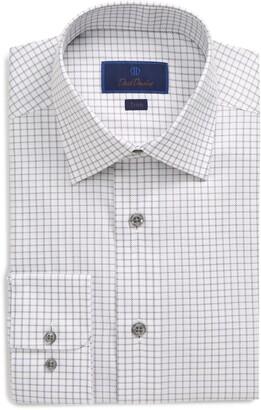David Donahue Tattersall Trim Fit Dress Shirt