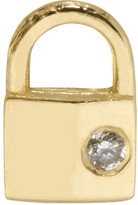 Lauren Klassen Gold Tiny Padlock Earring