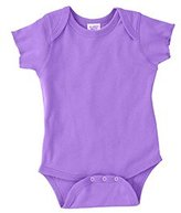 Rabbit Skins Infant Baby Rib Lap Shoulder Bodysuit (Red_White Stripe)