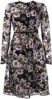 Giambattista Valli floral embroidered bow embellished dress - women - Silk/Cotton/Polyamide/Polyester - 40
