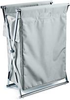 Decor Walther - Cross WB Laundry Basket - Chrome & White