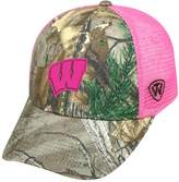 Top of the World Adult Wisconsin Badgers Sneak Realtree Snapback Cap