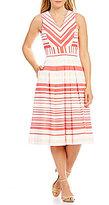 Alex Marie Striped Birdie Dress