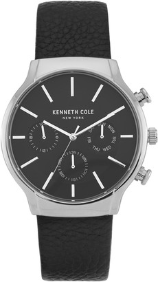Kenneth Cole New York Men's Dress Sport Chronograph Leather Strap Watch, 42mm