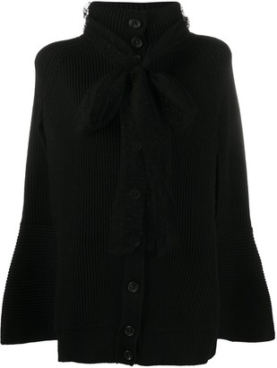 RED Valentino Buttoned Knitted Cape