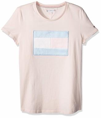 Tommy Hilfiger Girl's Fur Flag Tee S/s T-Shirt