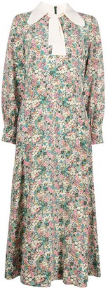 See by Chloe Floral-Print Long-Sleeve Dress