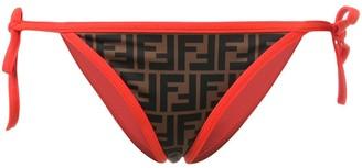 Fendi FF motif printed bikini bottoms
