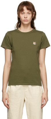 MAISON KITSUNÉ Khaki Fox Head T-Shirt