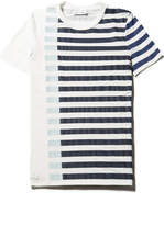 Lacoste Women's Flowing Striped Colorblock Milano Knit T-shirt