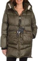 KENDALL + KYLIE Faux Fur Hooded Side-Zip Puffer Coat