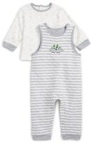 Little Me Infant Boy's Dino T-Shirt & Overalls Set