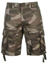 Soul Cal SoulCal Mens Deluxe Camouflage Cargo Shorts Pants Trousers Bottoms Cotton Zip