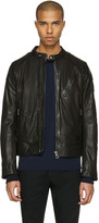 Belstaff Black Leather Maxford Jacket