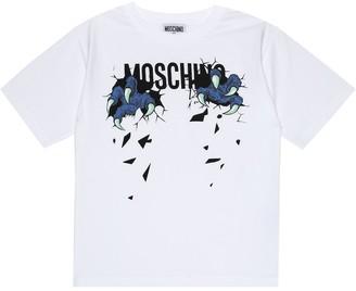 Moschino Kids Logo stretch-cotton T-shirt