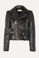 Saint Laurent Perfecto Distressed Leather Biker Jacket - Black