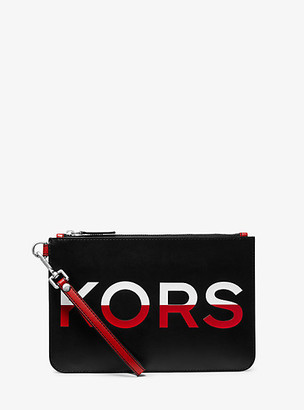 Michael Kors Medium Printed Leather Slim Pouch