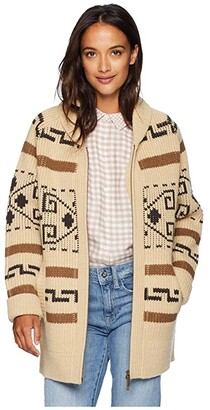 Pendleton Long Westerley Cardigan (Tan/Brown Multi) Women's Sweater