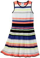 Milly Minis Stripe Sweater Knit Fit & Flare Dress (Toddler Girls, Little Girls, & Big Girls)