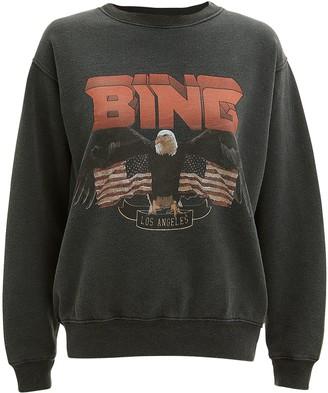 Anine Bing Vintage Graphic Logo Sweatshirt