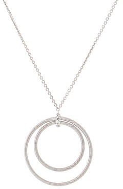 Marco Bicego 18K White Gold Diamond Circle Pendant Necklace, 15.5-17- 100% Exclusive
