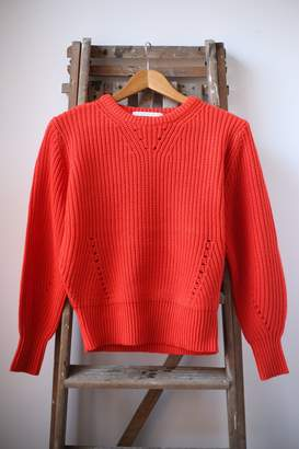Scotch & Soda Orange Chunky Knit - M - Orange
