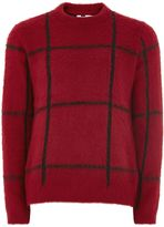 Topman Red And Black Check Jumper