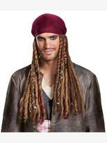 Disney Men's POTC5 Jack Sparrow Bandana with Dreads-Adult